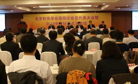 北京针灸学会召开第四次会员代表大会选举产生第四届理事会